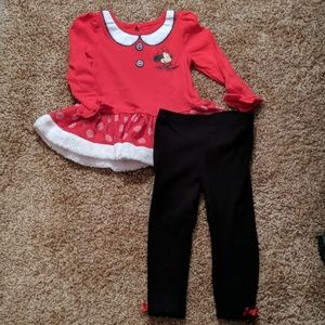 Minnie mouse Christmas outfit